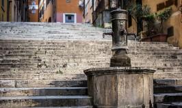 Torneira central, que fica situada na Via della Cordonata, próxima à praça do Campidoglio.Foto: divulgação.