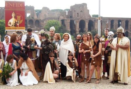 Voluntários do Gruppo Storico Romano caracterizaram-se para reviver a antiga Roma. Foto: divulgação
