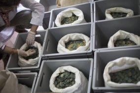 O material foi levado para o Museus Arqueológico de Sevilla e está sendo estudado. Foto: Paco Puentes