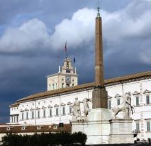 Piazza del Quirinale e obelisco. Foto: divulgação.