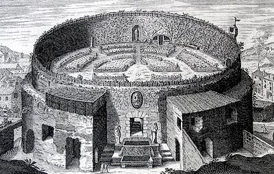 Gravura que representa o monumento em meados do século XVII. Foto: divulgação.