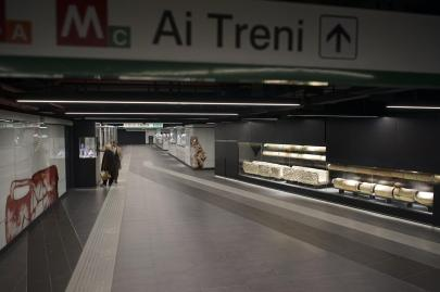 A estação de San Giovanni ganhou uma complexa estrutura de museu, que contém artefatos encontrados durante a construção do metrô C. Foto: archaeologyandme.eu