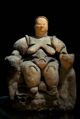 Escultura de Deusa Madre (6000 a.C): encontra-se no Museu das Civilizações da Anatólia, em Ancara, na Turquia. Foto: divulgação
