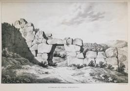 Representação da Porta Saracena de Segni feita por Dodwell.